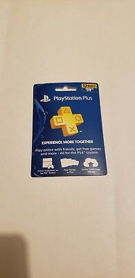 Sony PlayStation Plus 1 Year Membership Subscription Card - NEW