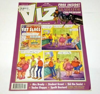 Viz Comic Magazine Number 102 June / July 2000 Collectable Adult Humour Humor *