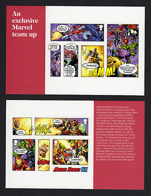 2019 MARVEL COMICS Pair of Self Adhesive Panes from PSB DY29