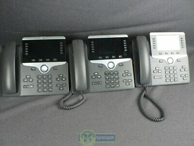LOT OF 5) Cisco IP VoIP 7910 Series Desktop Phone With Stand