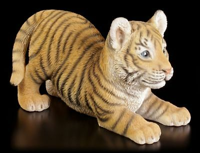 Garden Figure Tiger Baby Will Playing - Decorative Statue Cat