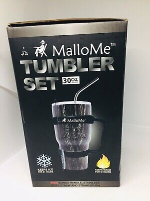 MalloMe Stainless Steel Vacuum Insulated 6-Piece Tumbler Set,30 oz