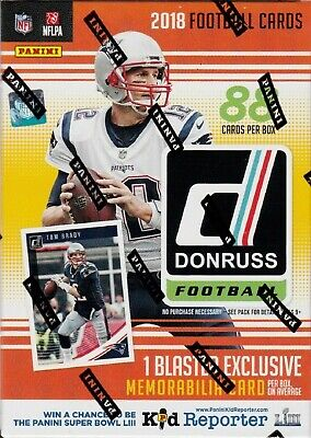 2018 Panini Donruss Football Sealed Blaster Box 11 packs of 8 NFL Cards