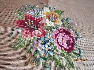 7 large preworked Prismacolor Needlepoint chine cotton-wool 3-23x23, 4-27x27  C