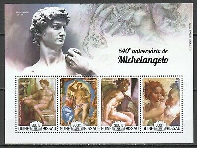 V1503 2015 Guinea-Bissau Art Paintings 540Th Anniversary Of Michelangelo 1Kb Mnh
