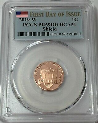 2019-W PCGS PR69 LINCOLN CENT PROOF FIRST DAY ISSUE FLAG 69 SHIPS NOW! #Sa146