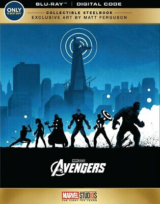 New! Marvel The Avengers Collectible Steelbook Edition (Blu-Ray + Digital)