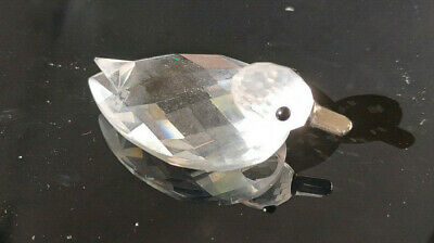 Swarovski retired duck cut glass collectable ornament metal beak