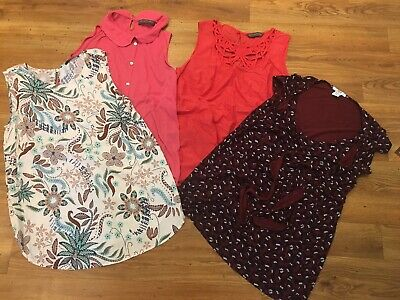 Maternity Summer Tops Bundle X 4 Mama&Papa Blooming Marvelous George Size 12