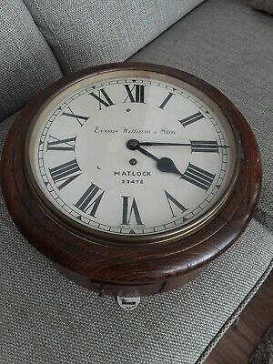 Antique, Fusee  Wall Clock  working order 8day Bob is missing from pendulum