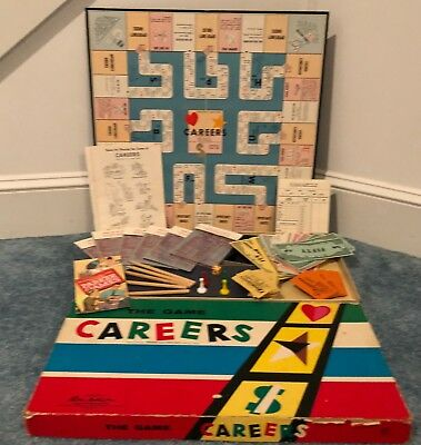 Vintage The Game CAREERS by Parker Brothers 1955 Board Game