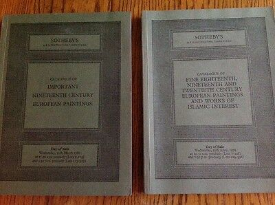 2 X Sotheby's Sale Catalogue Nineteenth Century European Paintings 1978 1980