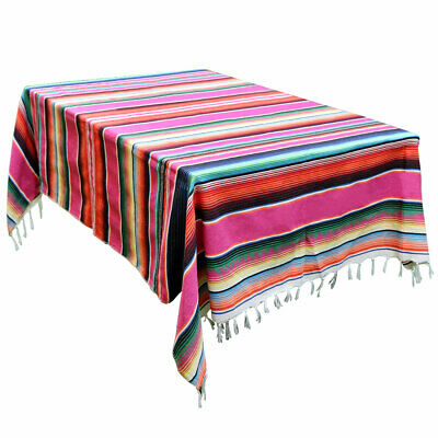 59 x 84 Inch Mexican Blanket Cotton Tablecloth Wedding Home Outdoor Table Cover