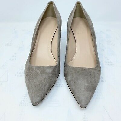 69ebc52c76 J Crew Dulci Suede Kitten Heels Shoes $198 Almost Grey Sz 9 1/2 A9758