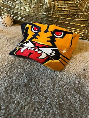 c1d1786915a950 Vintage 90s Florida Panthers Big Logo NHL Adjustable Strap-Back Visor Hat  Rare