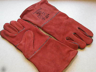 Liscombe Welders Gauntlets, 833L Large Size 9, Red Fully Lined