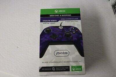 NEW PDP Wired Controller for Xbox One and PC, Purple Camo