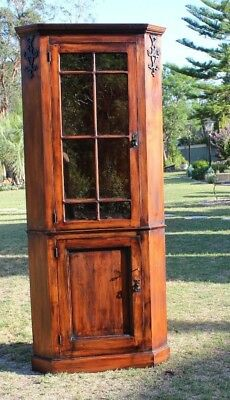 Old Corner Cabinet in very good condition with glazed door . Quality item.