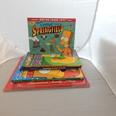 The Simpsons Humor/Comedy 6 Book Lot Homer,Bart,Marge Springfield Beefy Bratty