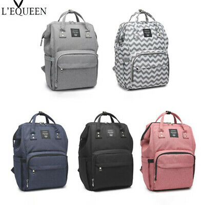 LEQUEEN Baby Diaper Bag Mummy Maternity Nappy Travel Waterproof Fashion Backpack