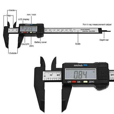 LCD Digital Vernier Caliper Electronic Carbon Fiber Gauge Micrometer 150mm 6inch