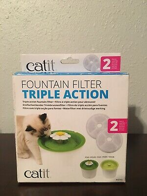 Catit  Triple Action Flower Fountain Replacement Water Softening Filter 43745
