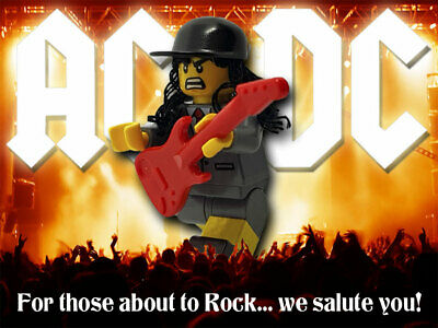 Motorhead Lemmy Rock Metal Music Custom Lego Minifigure with Drums Unique Gift
