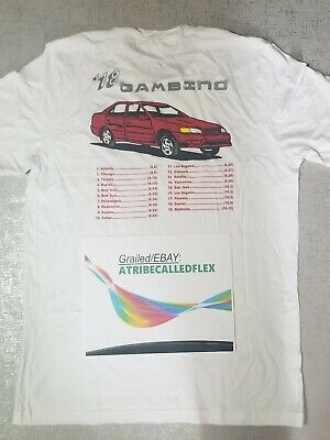 Childish Gambino THIS IS AMERICA Red Car Tour Date Shirt NYC Show Donald Glover