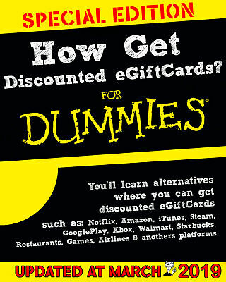 PDF-How To Get Discounted Gift Cards 55% Off Of Its Value Netflix Amazon iTunes