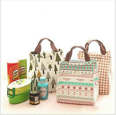 Women Carry Insulated Cooler Lunch Box Carry Bag Travel Picnic Thermal Tote MH