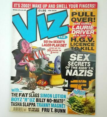 Viz Comic Magazine Number 112 January / February 2002 Collectable Adult Humour *