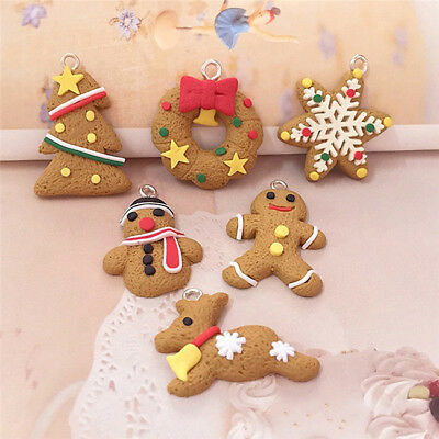 Christmas Tree Gingerbread Man Cookie Miniature Crafting Makning Ornaments MH
