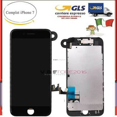 NERO DISPLAY PER IPHONE 7 ASSEMBLATO COMPLETO SCHERMO LCD + Camera + Earpiece