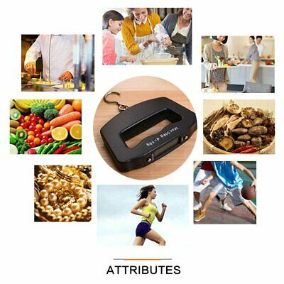 Electronic Portable Digital Luggage Scale Handheld Travel Suitcase Weighing JM