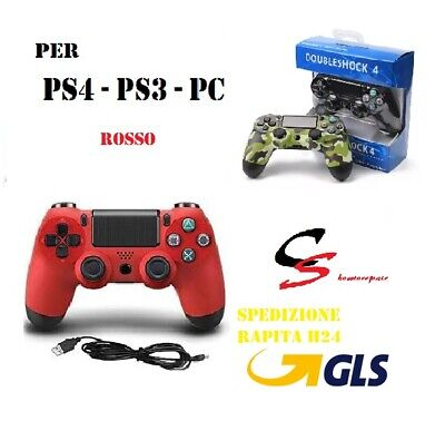 CONTROLLER PS4 PS3 PC DUALSHOCK 4 Wireless Controll ROSSO PLAYSTATION 4 V2 NUOVO