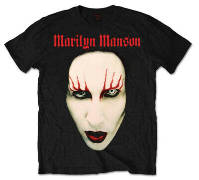 Marilyn Manson 'Red Lips' (Black) T-Shirt - NEW & OFFICIAL!