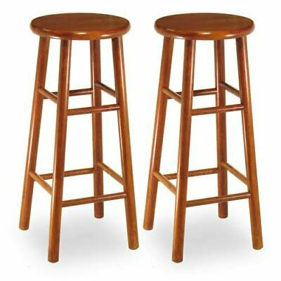 Pleasing 2 Winsome Bar Stools Solid Wood Pacey Color Espresso 29 In X Ibusinesslaw Wood Chair Design Ideas Ibusinesslaworg