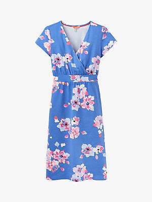 New JOULES Blue Floral JUDE Jersey Wrap Dress Size 8