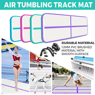 4/5/6m Air Track Floor Inflatable Airtrack Gymnastics Tumbling GYM Mat w/Pump UK