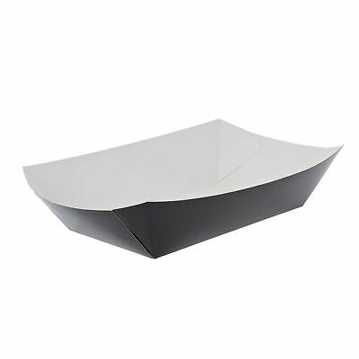 500 x Black Chip Trays Recyclable | Catering Supplies