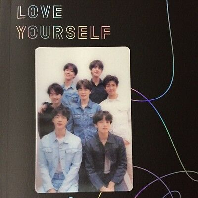 BTS - LOVE YOURSELF  'Tear' - GROUP LENTICULAR SPECIAL PHOTO CARD