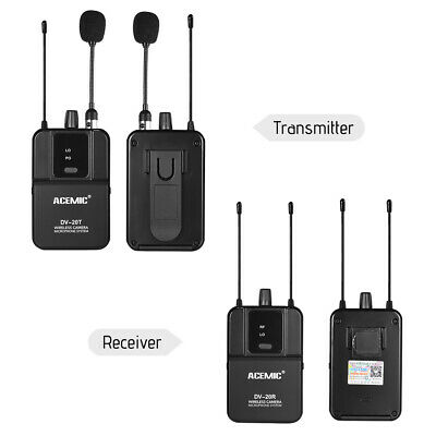 UHF Wireless Lapel Lavalier Microphone Mic System for DSLR Camera Camcorder J9C8