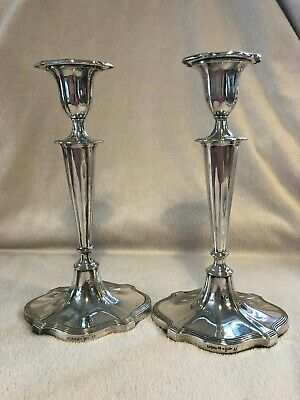 Walker and Hall - Antique silver plated candle sticks - ADAM STYLE CIRCA 1900