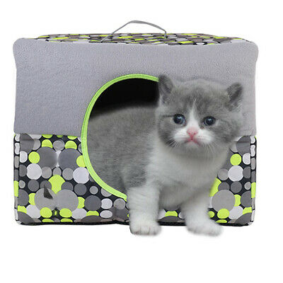 Portable Cat Bed Igloo Sleeping Pet Puppy Dog Kitten Cave House Bed Carry Basket