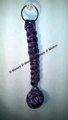 """Paracord Crafts Keychains 10 Pack of Monkey Ball Fist 1.25/"""" Steel Ball Bearing"""
