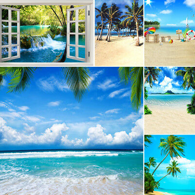 Summer Sea Beach Photography Background Photo Studio Backdrops 3*5/5*7/6*9/10*10
