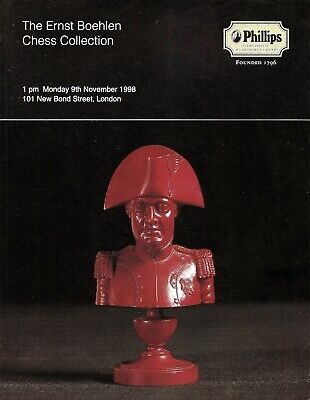 """Phillips """"The Ernst Boehlen Chess Collection"""" auction catalogue, 1998"""