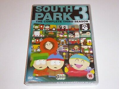 South Park - The Complete Third Season 3 - NEW / SEALED UK DVD SET Series Three