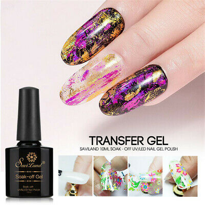 Paper UV Gel Starry Sticker Adhesive Nail Art Decal Foil Star Nail Glue