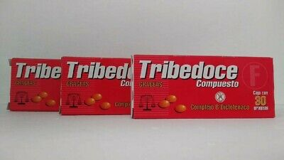 3 packages Tribedoce Compuesto Complejo B , Free Shipping , New